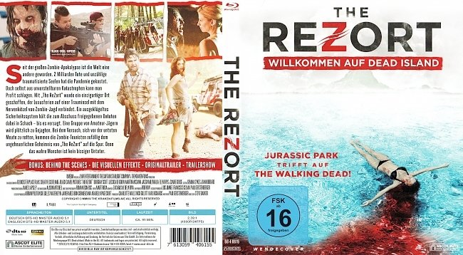 The Rezort Willkommen auf Dead Island Cover Blu ray Film german blu ray cover