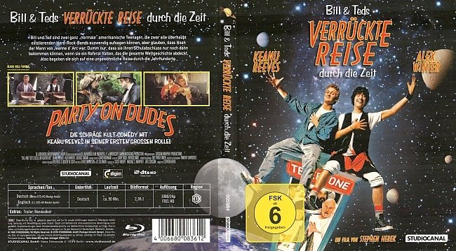 Bill und Teds verrueckte Reise durch die Zeit Blu ray Cover German Deutsch german blu ray cover
