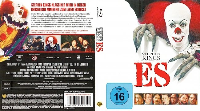 Stephen Kings Es Alter Film 1990 Cover Blu ray Deutsch German german blu ray cover