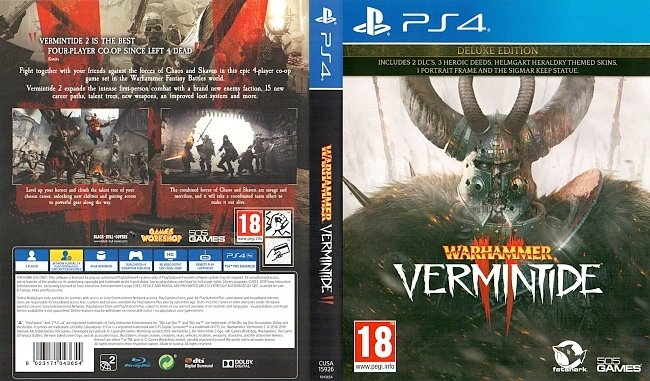 Warhammer Vermintide 2 PS4 Cover 505 Games English german ps4 cover