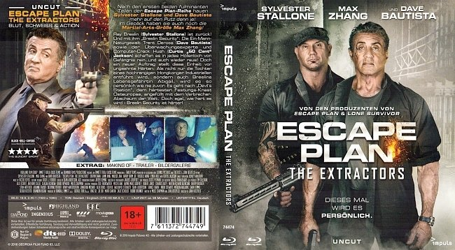 Escape Plan 3 The Extractors Blu ray Cover German Deutsch german blu ray cover