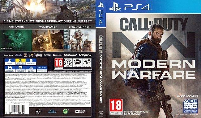 Call of Duty Modern Warfare PS4 Cover Deutsch German GameMoviePortal BlackBullCovers german ps4 cover