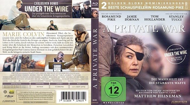A Private War Cover Blu ray German Deutsch german blu ray cover