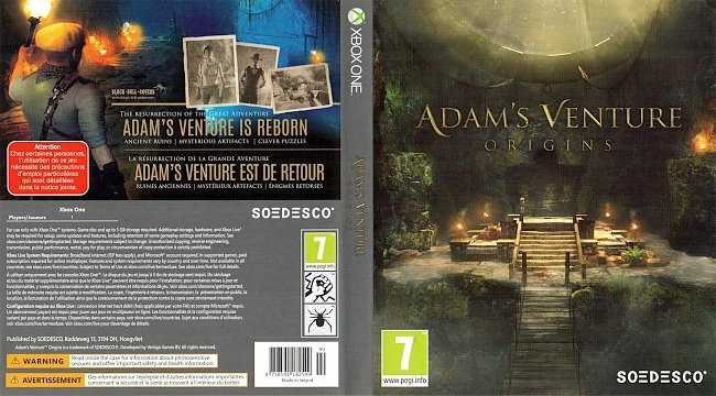Adams Venture Origins Xbox One Cover Deutsch German german xbox one cover