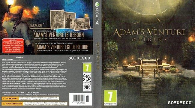 Adams Venture Origins Xbox One Cover Deutsch German german xbox one cover