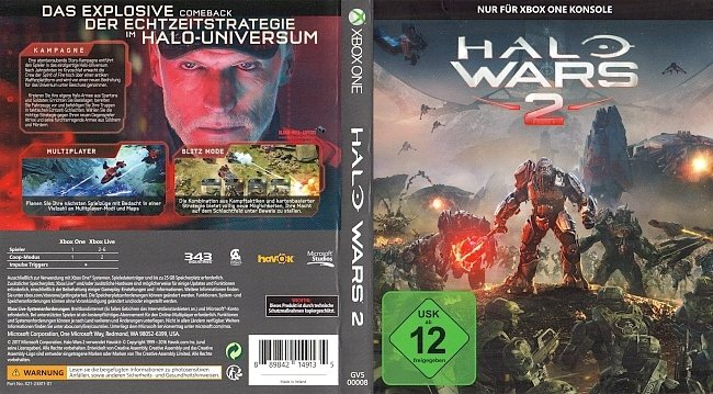 Halo Wars 2 Xbox One Cover Deutsch German german xbox one cover