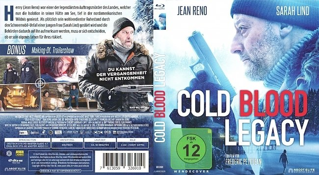 Cold Blood Legacy Jean Reno Cover Bluray german blu ray cover