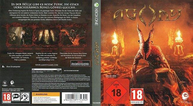Agony Xbox One Cover German Deutsch GameMoviePortal BlackBullCovers german xbox one cover