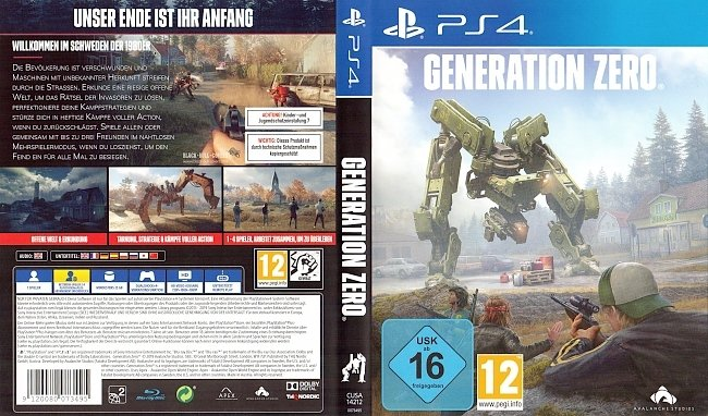 Generation Zero Cover PS4 German Deutsch german ps4 cover