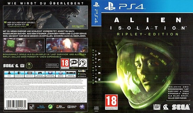 Alien Isolation PS4 Cover German Deutsch GameMoviePortal Schweiz german ps4 cover