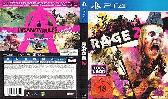 Rage 2 PS4 Cover German Deutsch german ps4 cover