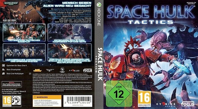 Space Hulk Tactics Xbox One German Deutsch Cover german xbox one cover