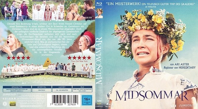 MidSommar Cover Blu ray german blu ray cover