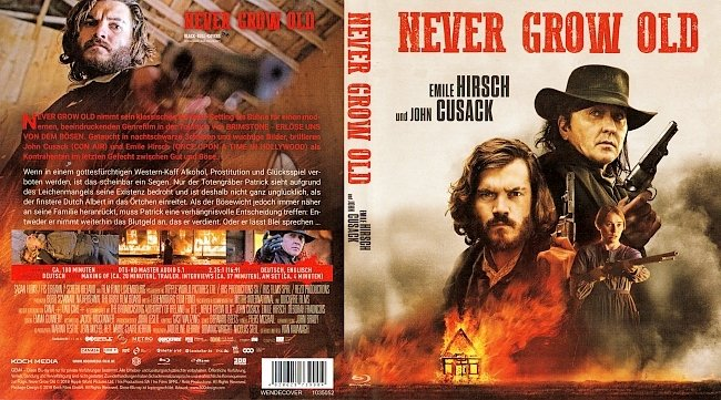 Never Grow Old ohne FSK blu ray cover german