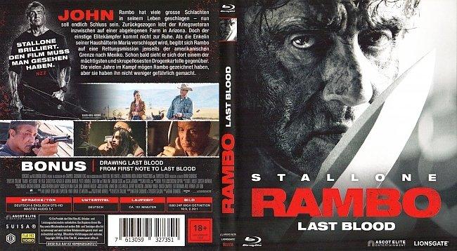 Rambo Last Blood Cover Blu ray german blu ray cover