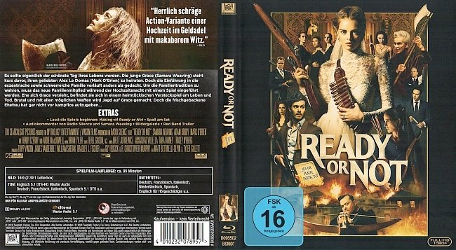 Ready or Not Cover Blu ray German Deutsch german blu ray cover