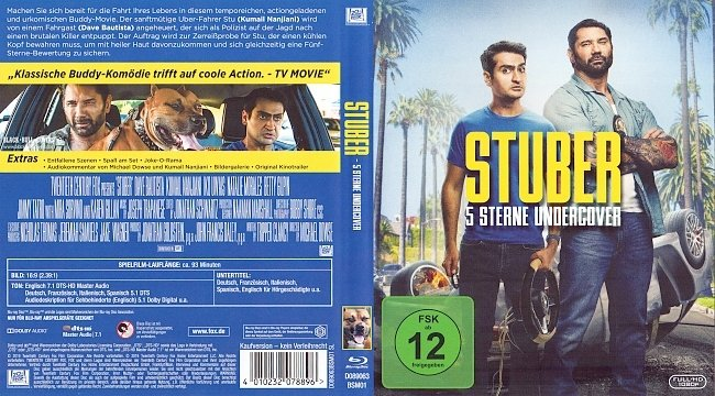 Stuber 5 Sterne Undercover blu ray cover german