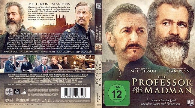 The Professor and the Madman Cover Blu ray german blu ray cover