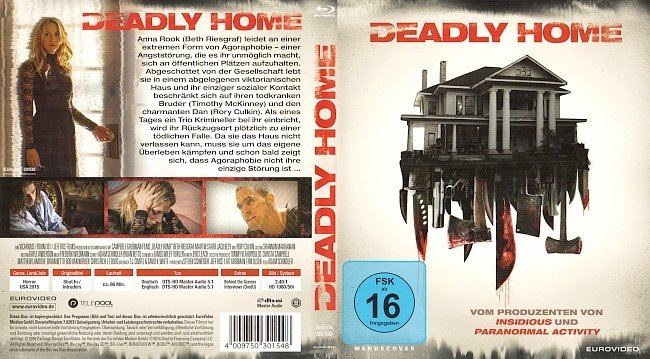 Deadly Home Cover Blu ray Deutsch German german blu ray cover