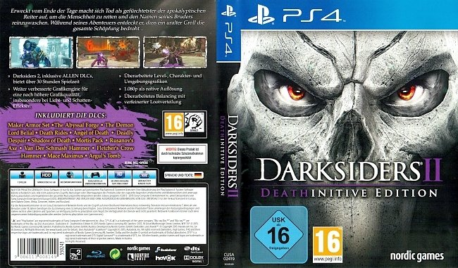 DarkSiders 2 Deathinitive Edition Cover PS4 german ps4 cover