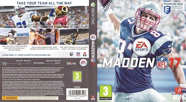 Madden NFL 17 Cover Xbox One german xbox one cover