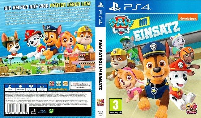Paw Patrol Im Einsatz Cover PS4 Playstation 4 German Deutsch german ps4 cover