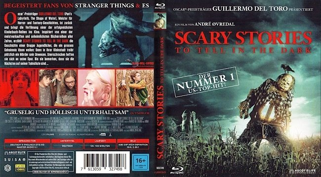 Scary Stories To Tell in the Dark Cover Blu ray German Deutsch german blu ray cover