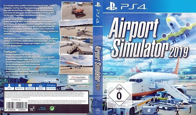 Airport Simulator 2019 Cover Playstation 4 PS4 Deutsch German german ps4 cover