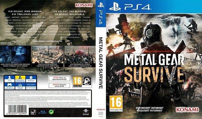 Metal Gear Survive Cover PS4 Game Spiel Deutsch german ps4 cover