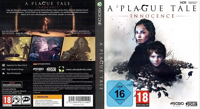 A Plague Tale Cover Xbox One German Deutsch german xbox one cover