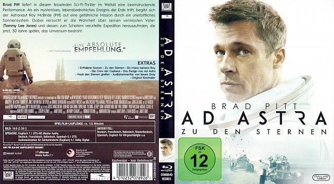 Ad Astra Cover Blu ray Deutsch German german blu ray cover