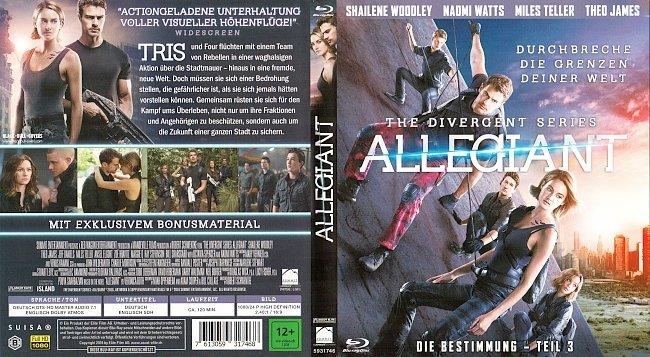 Allegiant The Divergent Series Die Bestimmung Cover Deutsch German Blu ray german blu ray cover