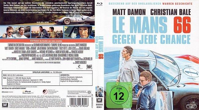Le Mans 66 Ford vs Ferrari Blu ray Cover German Deutsch german blu ray cover