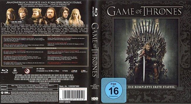 Game of Thrones Staffel 1 S01 Blu ray Cover Deutsch German german blu ray cover