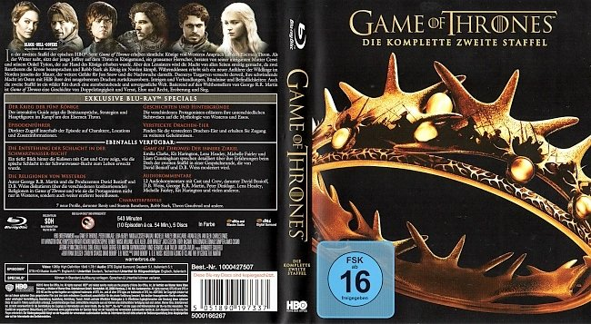 Game of Thrones Staffel 2 S02 Blu ray Cover Deutsch German german blu ray cover