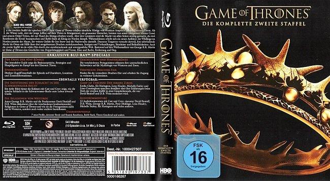 Game of Thrones Staffel 2 S02 Blu ray Cover Deutsch German german blu ray cover