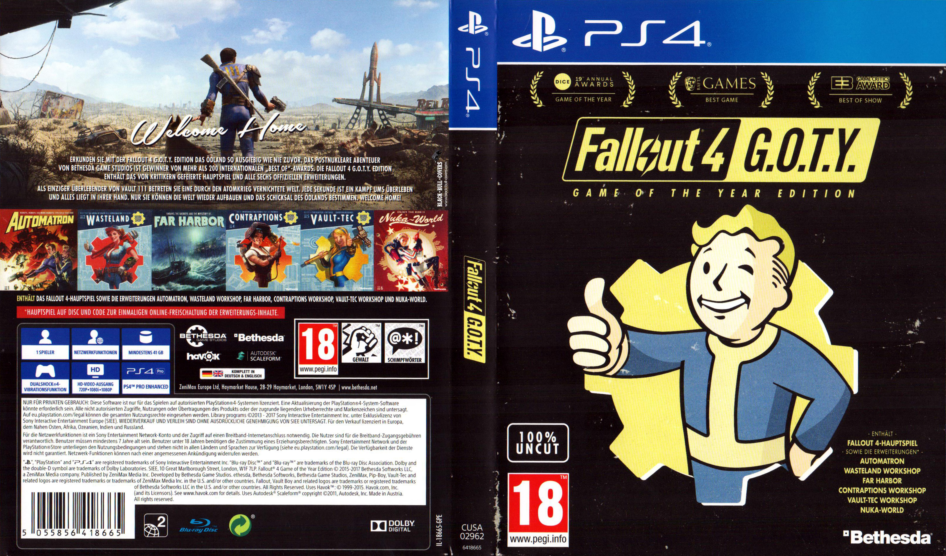 Fallout 4 GOTY Edition Cover German ...
