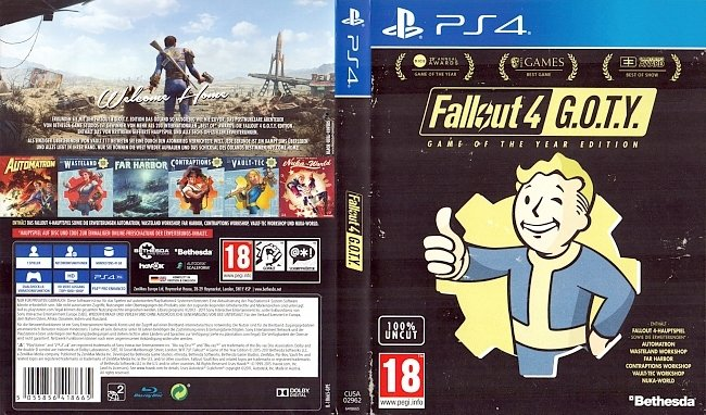 Fallout 4 GOTY Edition Cover German Deutsch german ps4 cover