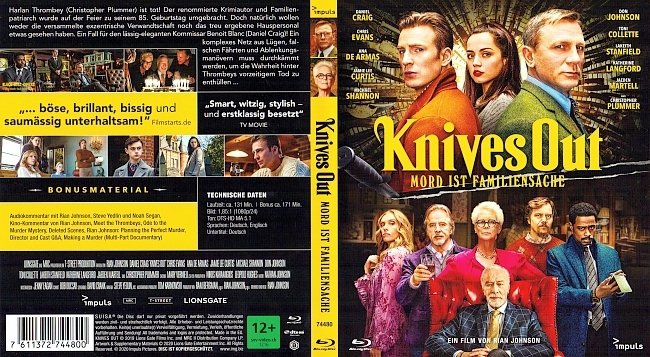 Knives Out Blu ray Cover German Deutsch german blu ray cover