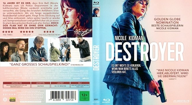 Destroyer Cover Blu ray Deutsch German german blu ray cover