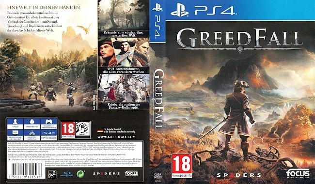 Greedfall PS4 Cover German Deutsch german ps4 cover