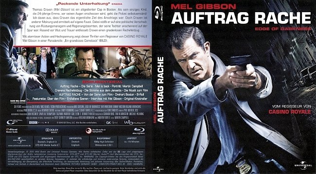 Auftrag Rache Edge of Darkness Cover ohne FSK german blu ray cover