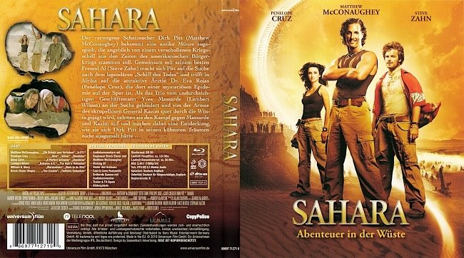 Sahara Abenteuer in der Wueste Cover Bluray Deutsch German german blu ray cover