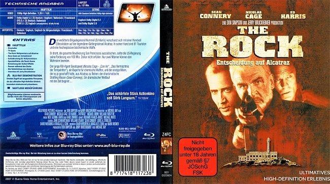 The Rock Entscheidung auf Alcatraz Cover BD German Deutsch german blu ray cover