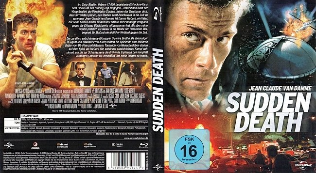 Sudden Death Jean Claude Van Damme Cover German Bluray german blu ray cover