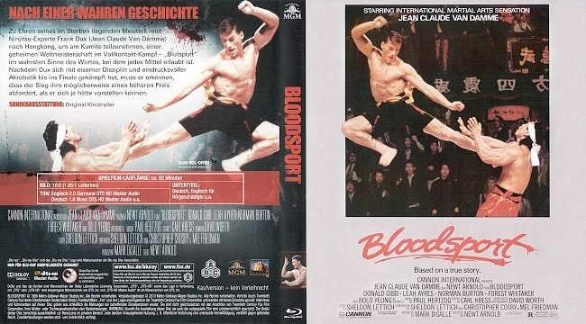 Bloodsport Cover 2 german blu ray cover