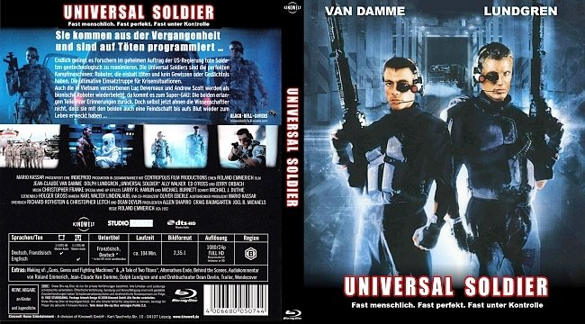 Universal Soldier Bluray blu ray cover german