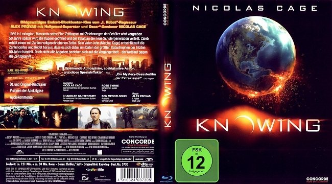 Knowing Blu ray Cover German Deutsch german blu ray cover