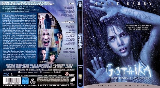 Gothika Cover Bluray German Deutsch Film german blu ray cover