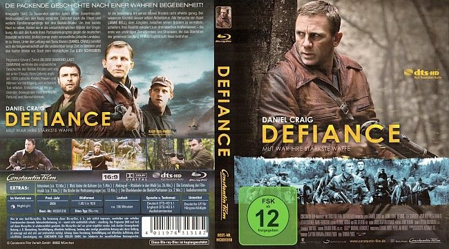 Defiance Unbeugsam Daniel Craig Blu ray Cover German Deutsch german blu ray cover